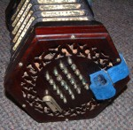 LACHENAL 48 KEY CONCERTINA EBONY ENDS METAL BUTTONS.