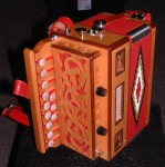 GIUSTOZZI ORGANETTO - MELODEON - BUTTON ACCORDION. HANDMADE ITALIAN