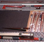 FULLY MOUNTED QUALITY 4/4 VIOLIN BOWS.