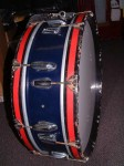 "VINTAGE PREMIER MARCHING BASS DRUM 24"" x 6""."