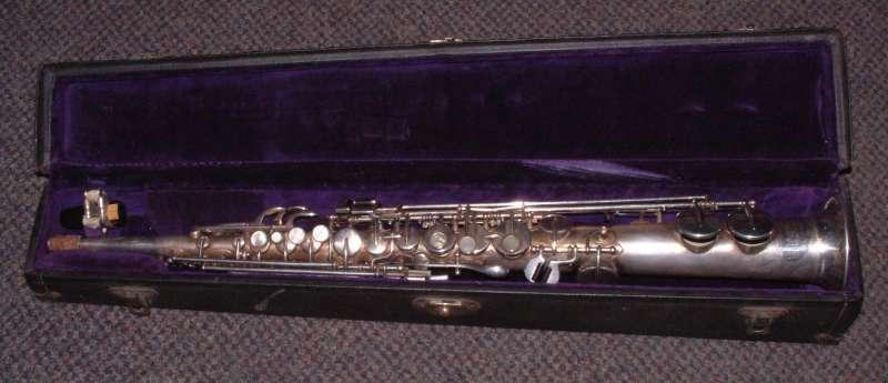 mannings musicals buescher soprano true tone saxophone orig case m p. Black Bedroom Furniture Sets. Home Design Ideas
