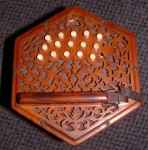 RARE 30 KEY ANGLO CONCERTINA. spares or repair.