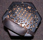 48 KEY DUET CONCERTINA. LACHENAL? spares or repair.