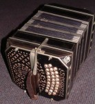VINTAGE BANDONEON, BANDONION, CONCERTINA with CASE.