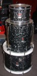 "VINTAGE 60's PREMIER DRUM KIT, with CASES. 20"" - 16"" - 12""."