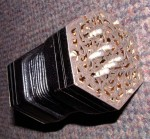 RARE WHEATSTONE MINIATURE ENGLISH CONCERTINA.