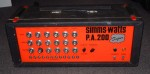 SIMMS WATTS 200 WATT PA AMPLIFIER.