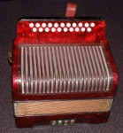 HOHNER CORSO MELODEON IN D/G. BUTTON ACCORDION.