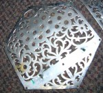 30 KEY ANGLO CONCERTINA METAL ENDS. LACHENAL?