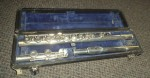 RUDALL CARTE 'ROMILLY' CORONET SOLID SILVER FLUTE.